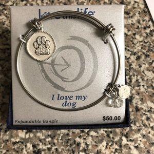 Jewelry - Paw print bangle bracelet